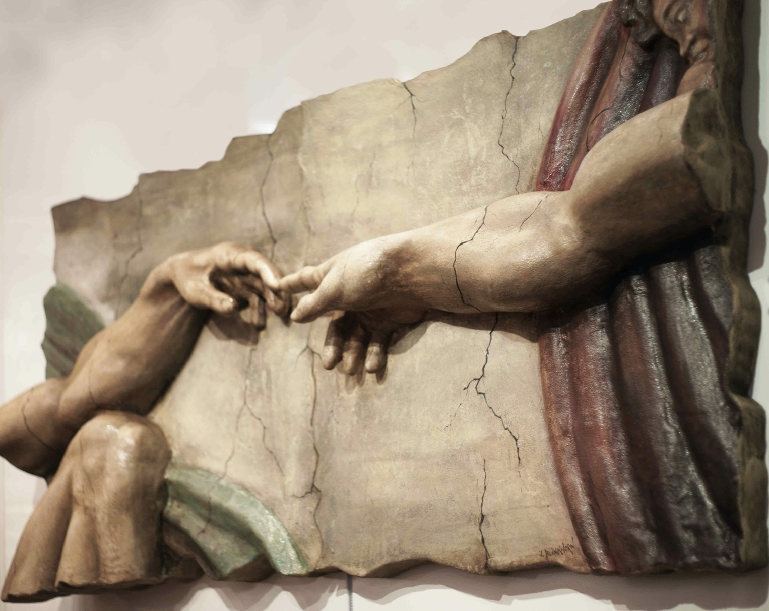 The Creation Of Adam Sculpture