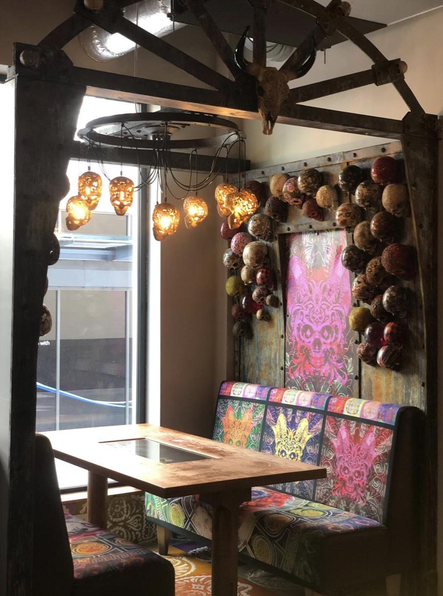 Skull Restaurant Booth